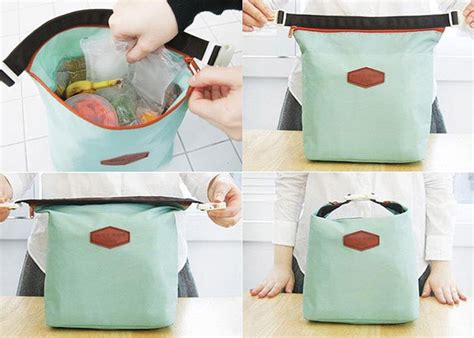 Best Seller New Japanese Iconic Insulated Lunch Picnic Bag Coole insulated picnic bag heat coldness retaining iconic lunch pouch light blue kit ebay