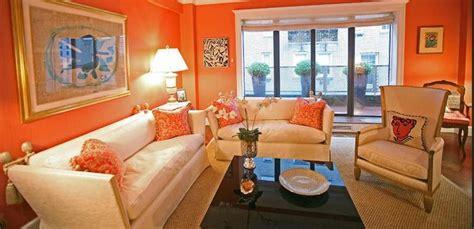 Bright Orange Room by 15 Lively Orange Living Room Design Ideas Rilane