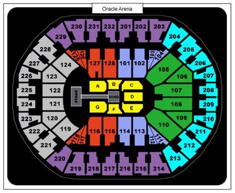 oakland arena seating tickets september 19 2017 at 4 45 pm oracle arena