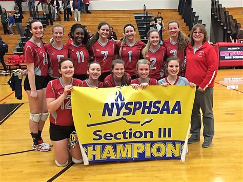 section 3 volleyball section iii girls winter volleyball chions by the