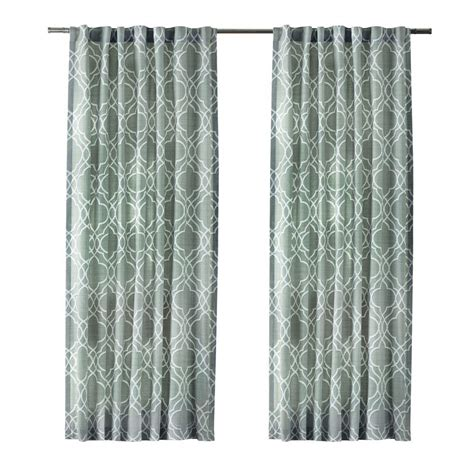 curtains gray home decorators collection pewter gray garden gate back