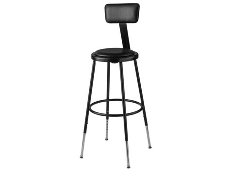 Padded Stool With Backrest by Nps Adjustable Padded Metal Lab Stool With Backrest 25 33