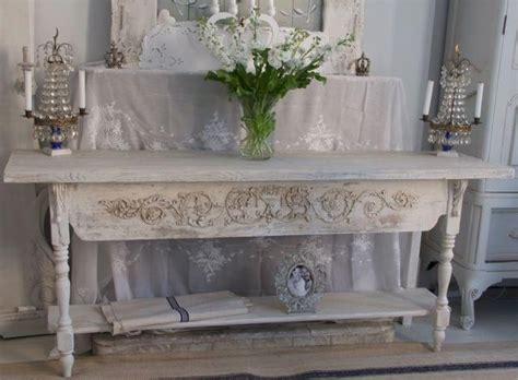 Shabby Chic Sofa Table Sofa Table Shabby Chic White To Pink