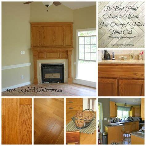 the best paint colours to go with oak trim floor