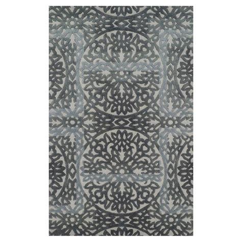 grey flower rug anya modern grey flower medallion wool rug 3 6x5 6 kathy kuo home
