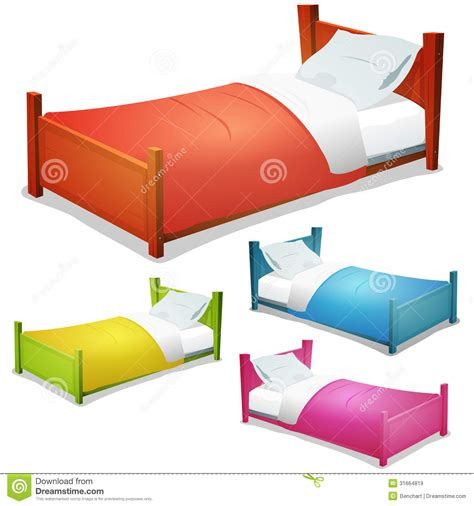 cartoon beds cartoon bed set stock vector image of sheet collection