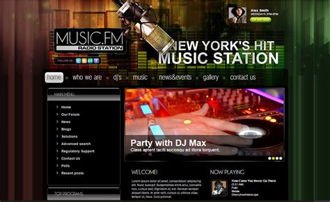 online radio joomla website templates themes free