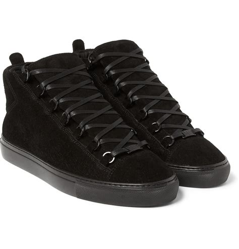 All Black Balenciaga balenciaga arena sneakers in black for lyst