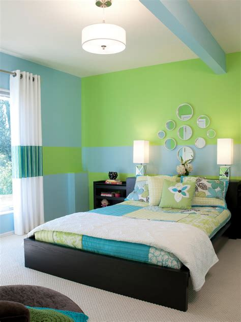 green and blue bedroom 7 creative wall murals for kids home remodeling ideas