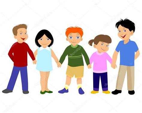 imagenes niños tomados de la mano ni 241 os tomados de la mano vector de stock 80467262
