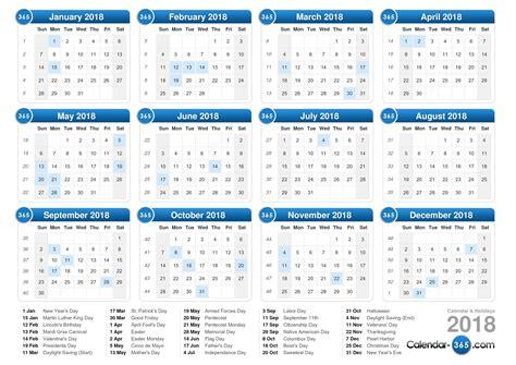2018 calendar with holidays malaysia   calendar printable free
