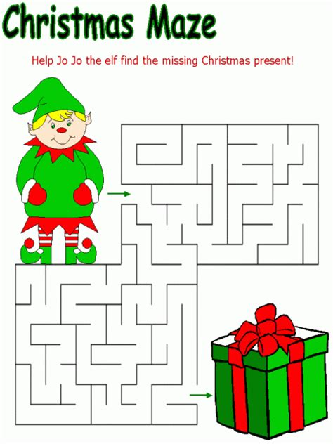 free printable christmas games for elementary students christmas themed mazes coloring pages word search fun