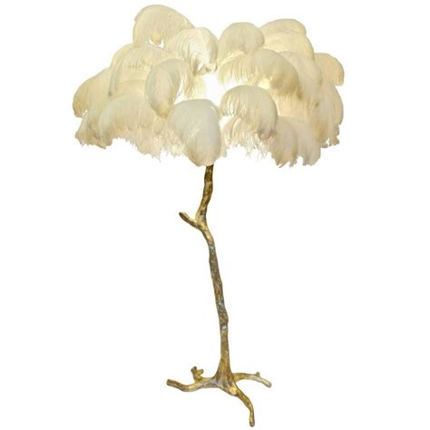 ostrich feather l shade regency sculptural ostrich feather palm tree
