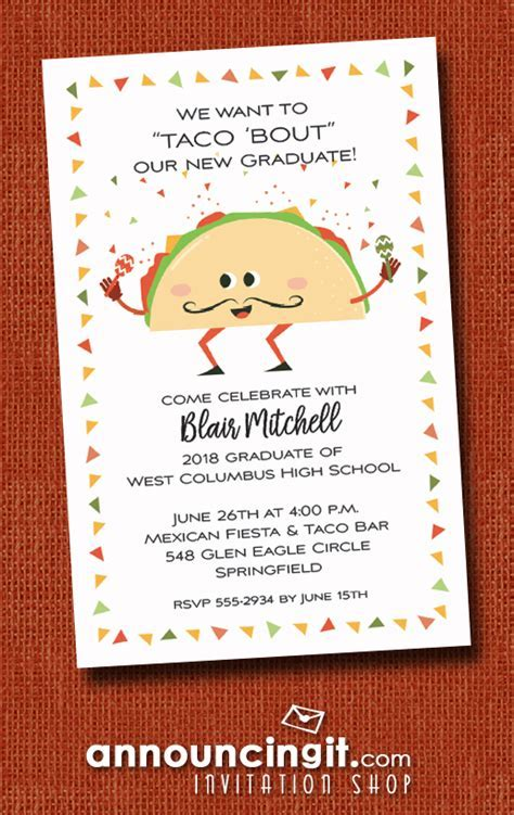 Food Theme Graduation Party Invitations   Announcingit.com
