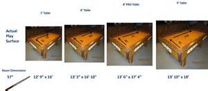 size of pool table pool table size chart pool table room size