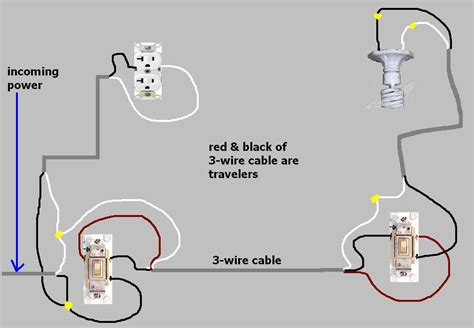 generous easy wiring diagram for three way switch set up
