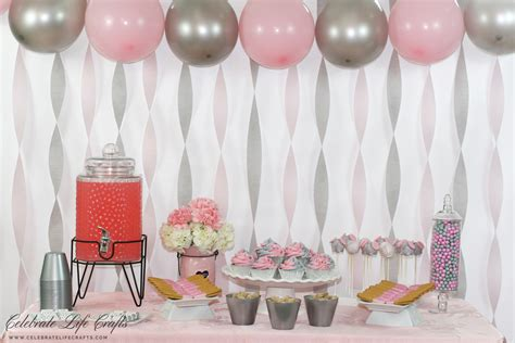 Pink And Gray Baby Shower Table Decorations by Pink Peanut Elephant Baby Shower Celebrate