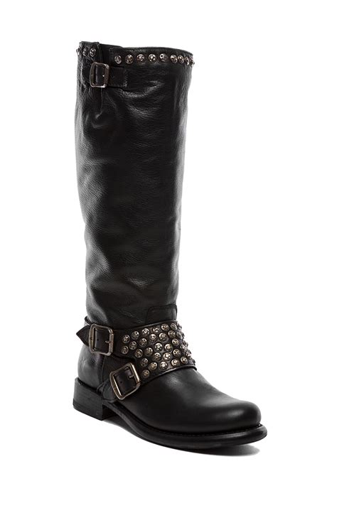 frye studded boots frye studded boot in black lyst