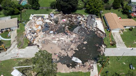 Where Are The Sink Holes In Florida by Florida Sinkhole Claims Five More Homes The New York Times