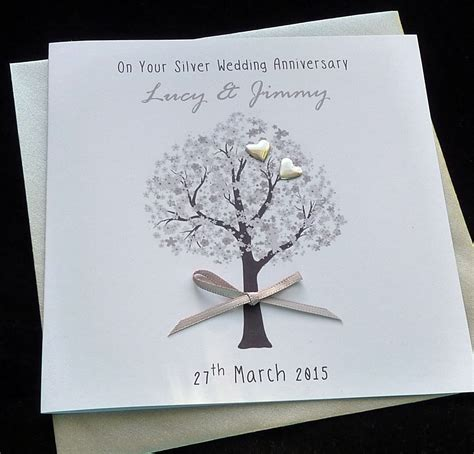 Personalised Wedding Anniversary Cards Uk by Personalised Handmade Silver Wedding Anniversary Wedding
