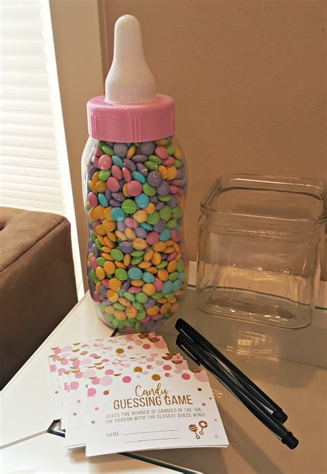 pink m ms for baby shower a pink gold coed baby shower simply darr