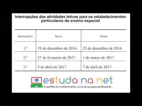 Calendario Escolar 2017 Portugal Calend 225 Escolar 2016 2017 Portugal Estuda Na Net