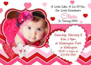 birthday invitation 1st birthday valentines day