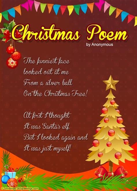 christmas tree card poem children poems for celebration all about