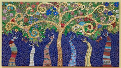 Red Gold Rug Tree Of Life Irina Charny Mosaics