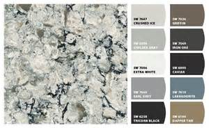 sherwin williams paint colors generated to coordinate with cambria praa sands quartz kitchen
