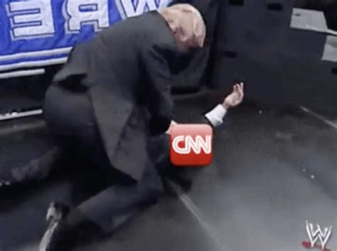 donald trump cnn watch donald trump shares wrestlemania meme of him