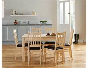Cucina Dining Table And Chairs Cucina Light Oak Dining Table And 6 Chairs Review Compare Prices Buy