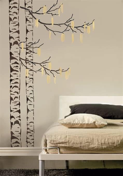 large tree stencil beautiful birches reusable stencils for