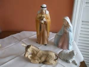 home interiors nativity set vintage home interior porcelain nativity set ebay