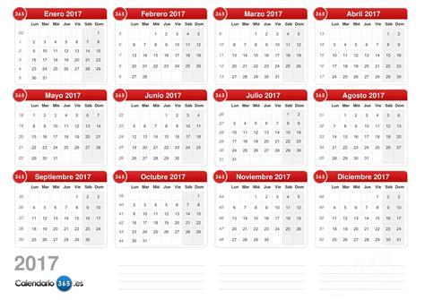 calendario 2017 mes a mes calendario 2017
