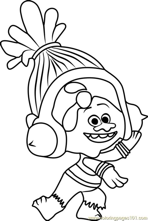 Coloring Page Trolls by Dj Suki From Trolls Coloring Page Free Trolls Coloring