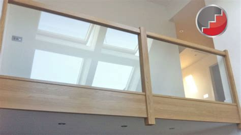 Glass Landing Banister by Glass Staircase Panels L Groove Recessed Handrails