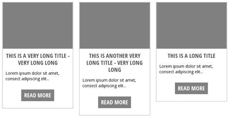 responsive layout div height use css for equal height column post grid
