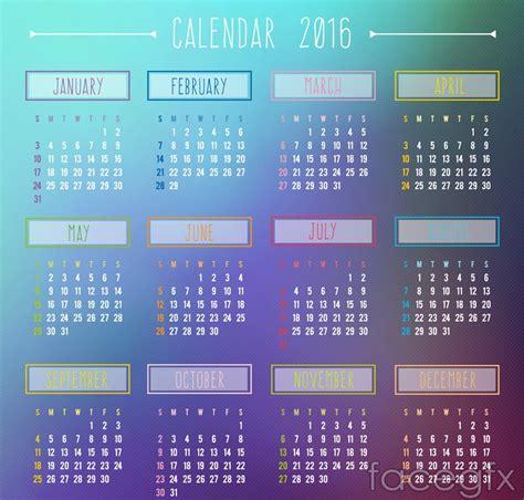 rk design calendar 2016 15 best calendar 2016 vector templates designmaz