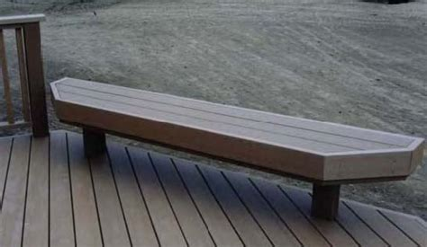 wood deck bench benches composite deck bench plan diy deck plans