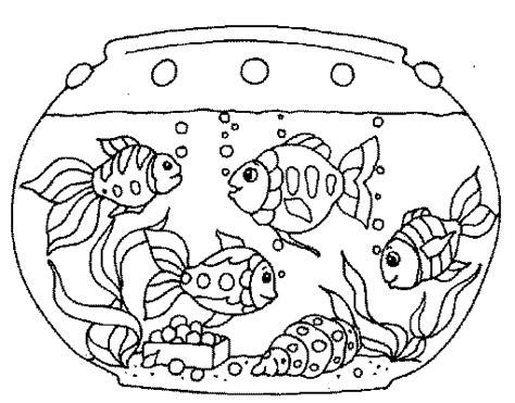 coloring page fish tank aquarium coloring pages coloringpages1001 com