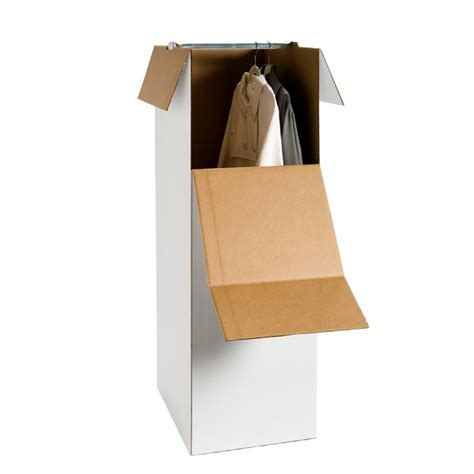 ups wardrobe boxes corrugated stand up wardrobe the container store