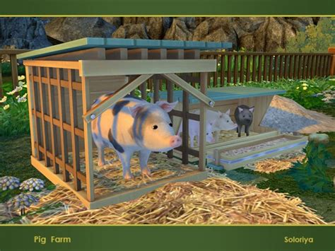 sims resource pig farm  soloriya sims  downloads