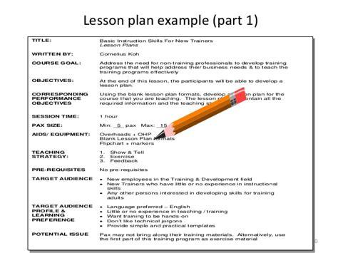 module 2a lesson plan basic instructional skills