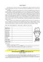 biography text worksheet english worksheets biography of jason mraz text and