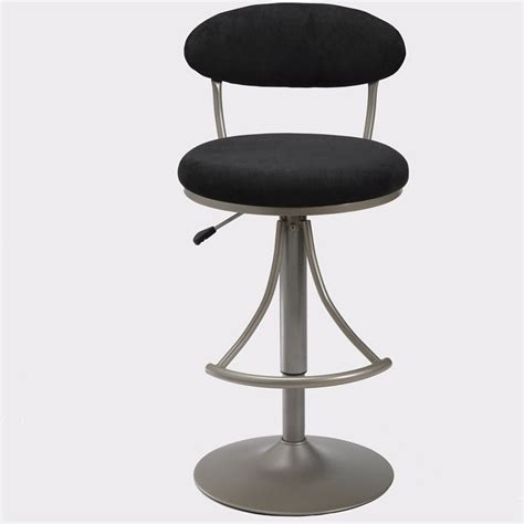 Bar Height Bar Stools Swivel by Hillsdale Venus 24 Quot To 30 Quot Height Adjustable Swivel Black