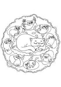 Coloriage Mandala Chat Reve Sur Hugolescargot Com Dessin De Coloriage Chat Gratuit Cp Coloriage Mandala Chat Imprimer Coloriage Petits Chats L
