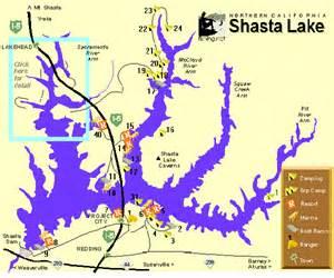 shasta lake map and marinas