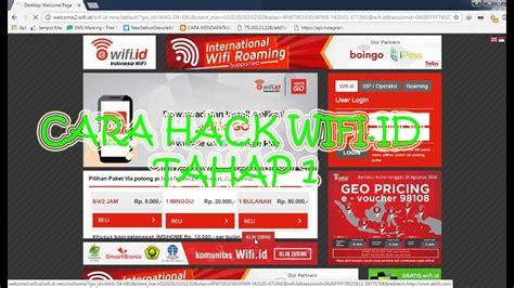 cara hack wifi id tahap 1 bulan juli 2017