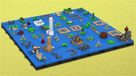 wind waker map the legend of the wind waker s sea chart as a lego microbuild kotaku australia